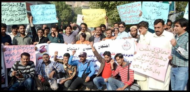 Photo of صحافين سان زيادتيون ، تشدد نامنظور، حيدرآباد ۾ صحافي رستن تي نڪري آيا